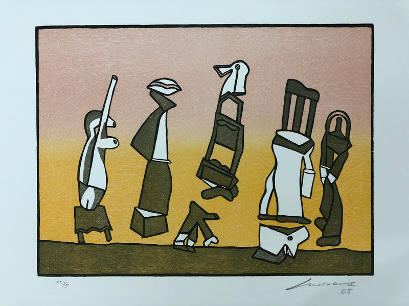 "José Luis Cuevas, ""Suite sobre la vida"" (Set of 8 woodcuts), 2005"