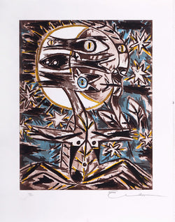 "Ever FONSECA, ""Night of fish"", Silkscreen"