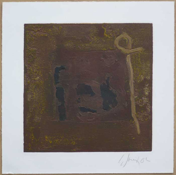 "Carlos GARCÍA DE LA NUEZ, ""Untitled"", Collagraph"