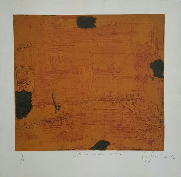 "Carlos GARCÍA DE LA NUEZ, ""At 4 winds"", Collagraph"