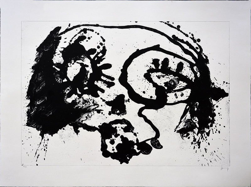 "Sergio HERNÁNDEZ, ""Sin titulo"",  Lithograph with zinc (HER200)"