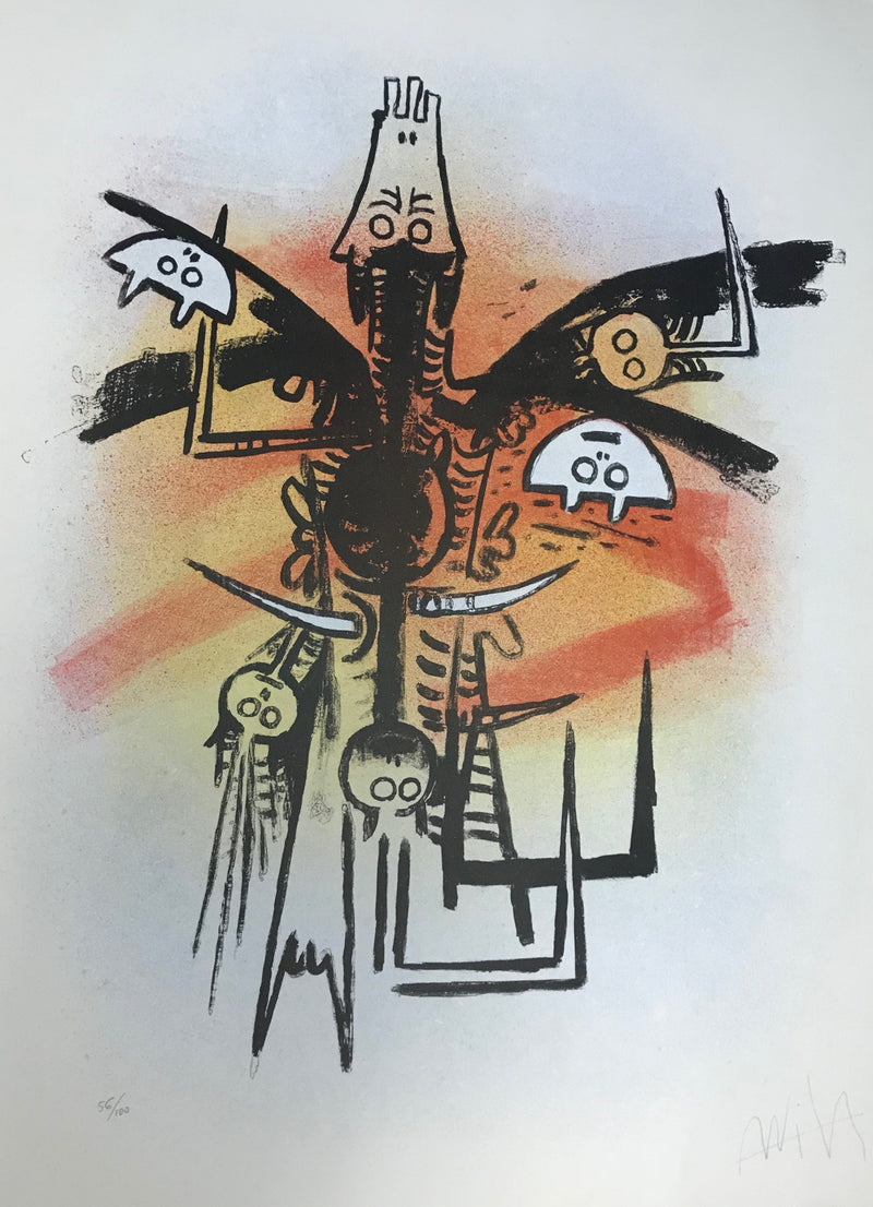 "Wifredo LAM, ""Le Feu Vert"", 1974, Portfolio with 6 Lithographs (N.298)"