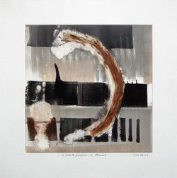 "Rigoberto MENA, #109,""An instant can be an eternity"" (Un instante puede ser una eternidad), Monotype"