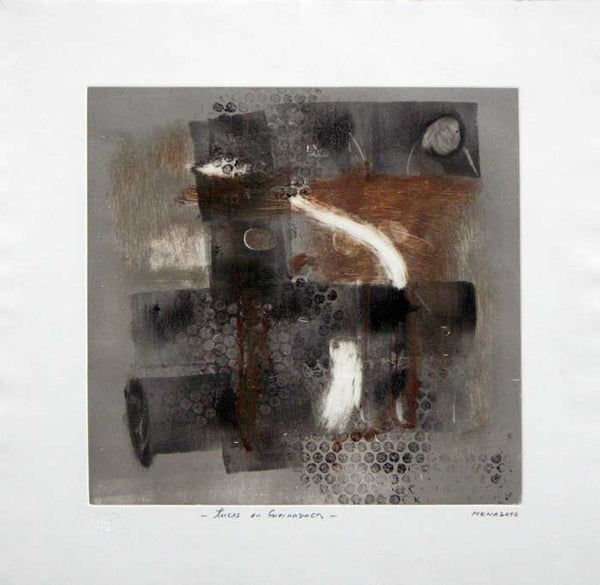 "Rigoberto MENA, #110,""Lights in Cuernavaca"" (Luces en Cuernavaca), Monotype"