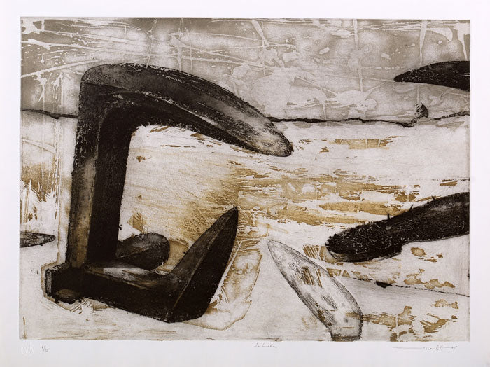 "Arturo MONTOTO, ""The footprint"", Etching"