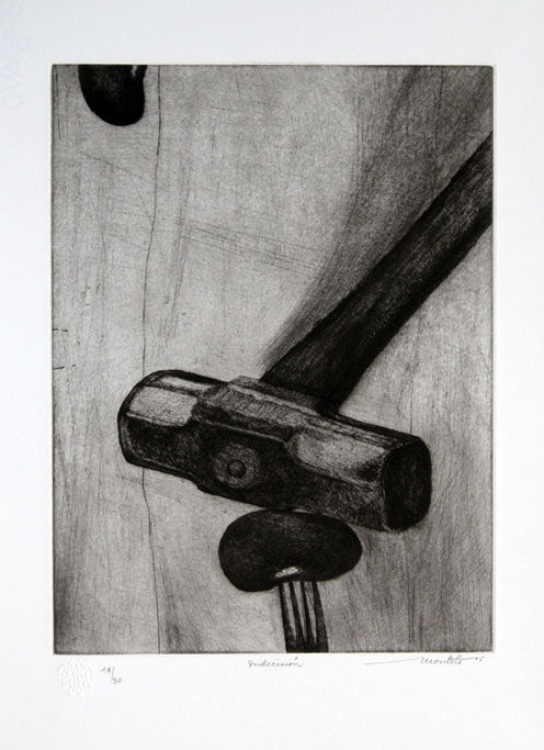 "Arturo MONTOTO, #104 ""Indecision"", Etching"