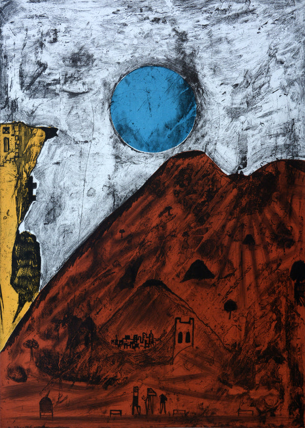 "Bernardo NAVARRO TOMAS, ""Luna de Tepoztlan"", Etching and aquatint (NAA101)"
