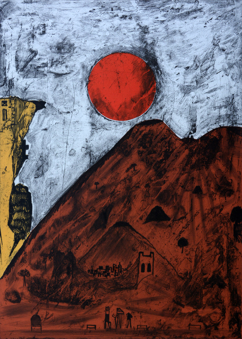 "Bernardo NAVARRO TOMAS, ""Luna de Tepoztlan"", Etching and aquatint (NAA102)"