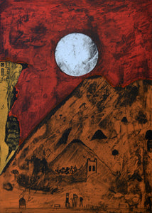 "Bernardo NAVARRO TOMAS, #104, ""Moon of Tepoztlan"" (Luna de Tepoztlan), Etching and aquatint"