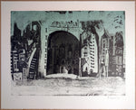 "Bernardo NAVARRO TOMAS, #105, ""Daytime"", Etching, aquatint and dry point"