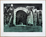 "Bernardo NAVARRO TOMAS, #106, ""Nighttime"", Etching, aquatint and dry point"