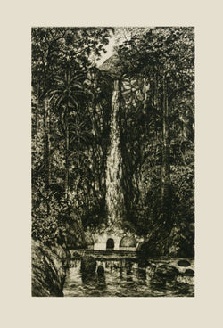 "Carlos RÍOS, ""The jump"", Etching"
