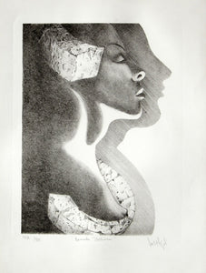 "Luis Miguel VALDÉS, ""Night call"", Lithography"