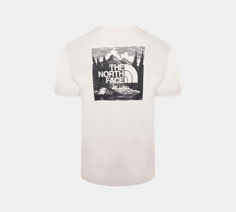 The North Face Red Box Celebration Logo Tee White