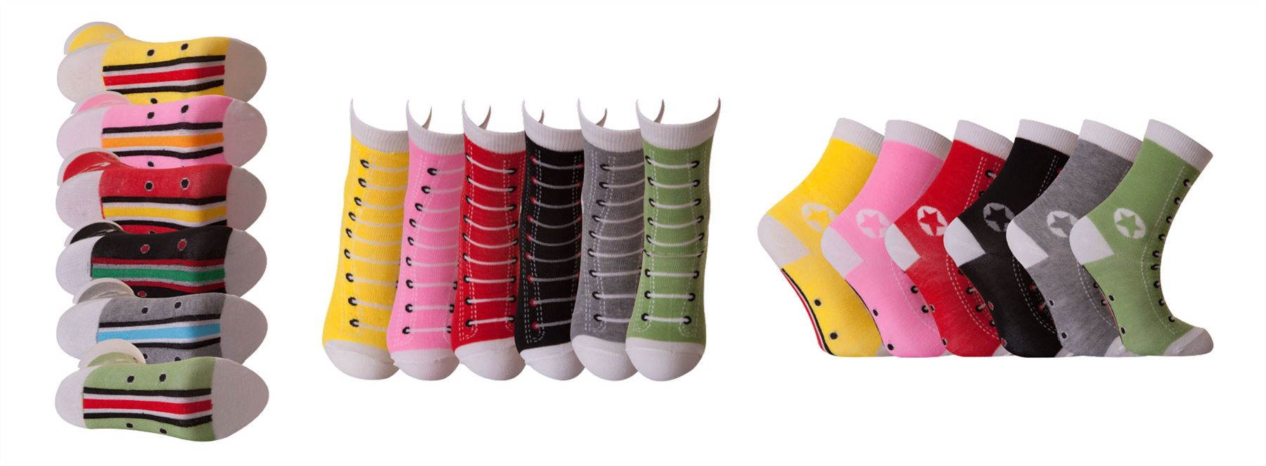 Girls All Star Design Socks UK 12-3.5