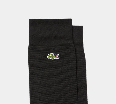 3-Pack Lacoste RA4744 00 964 Cotton Blend Socks Black/Green