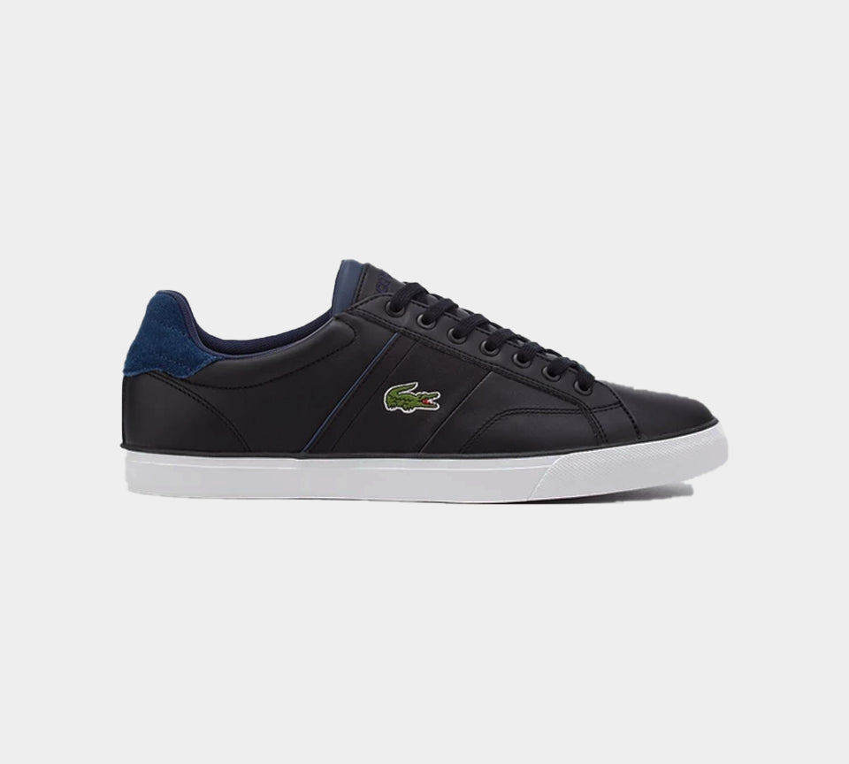 LACOSTE FAIRLEAD LEATHER MENS TRAINERS BLACK UK 6-11