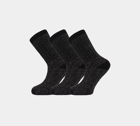 Mens Merino Socks MSQ1740 Black 3 Pairs