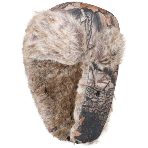 Mens Woodland Camouflage 0961 Trapper Hat Brown 58-60cm