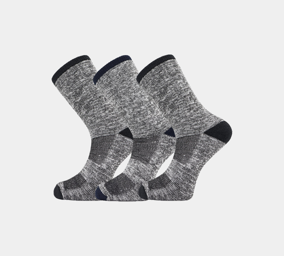 Mens Angora Thermal Socks MSQ2004 Grey/Blue Grey/Black 3 Pairs