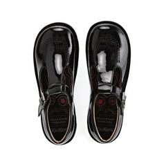 Kickers Classic Kick T-Bar Patent Black 112532 School Shoes