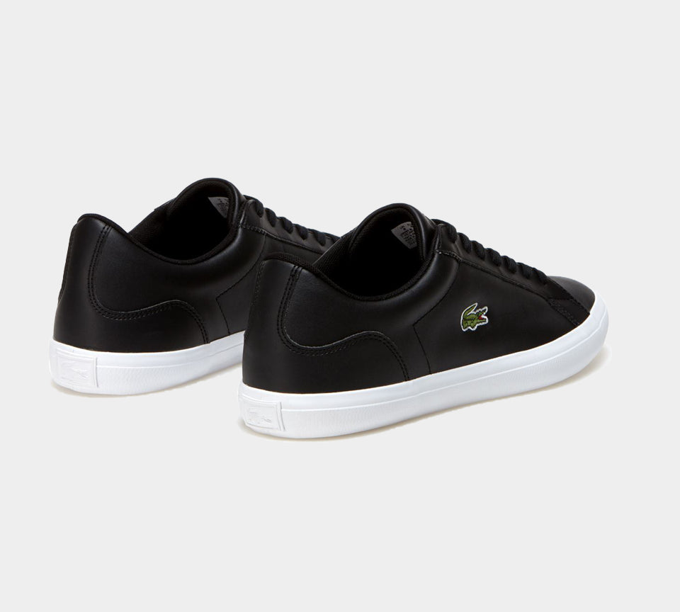 LACOSTE LEROND LEATHER MENS TRAINERS BLACK UK 6-11