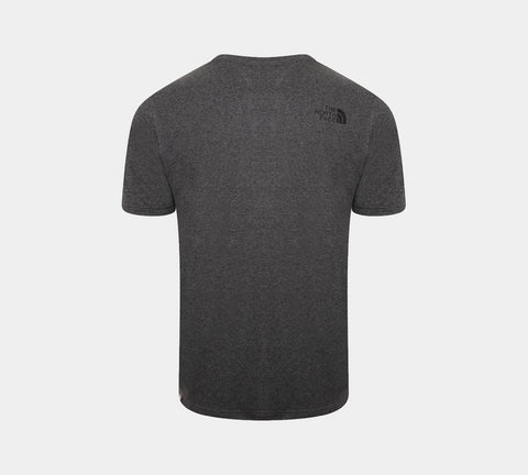 The North Face Simple Dome Cotton Logo Sports T-Shirt Top - Grey