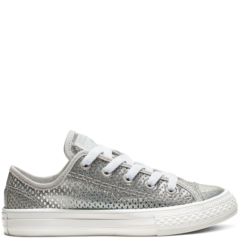 Converse CTAS OX 664200C Silver Girl's/Women's UK 10-5.5