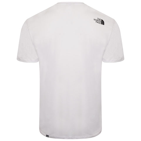 The North Face Simple Dome Cotton Logo Sports T-Shirt Top - White