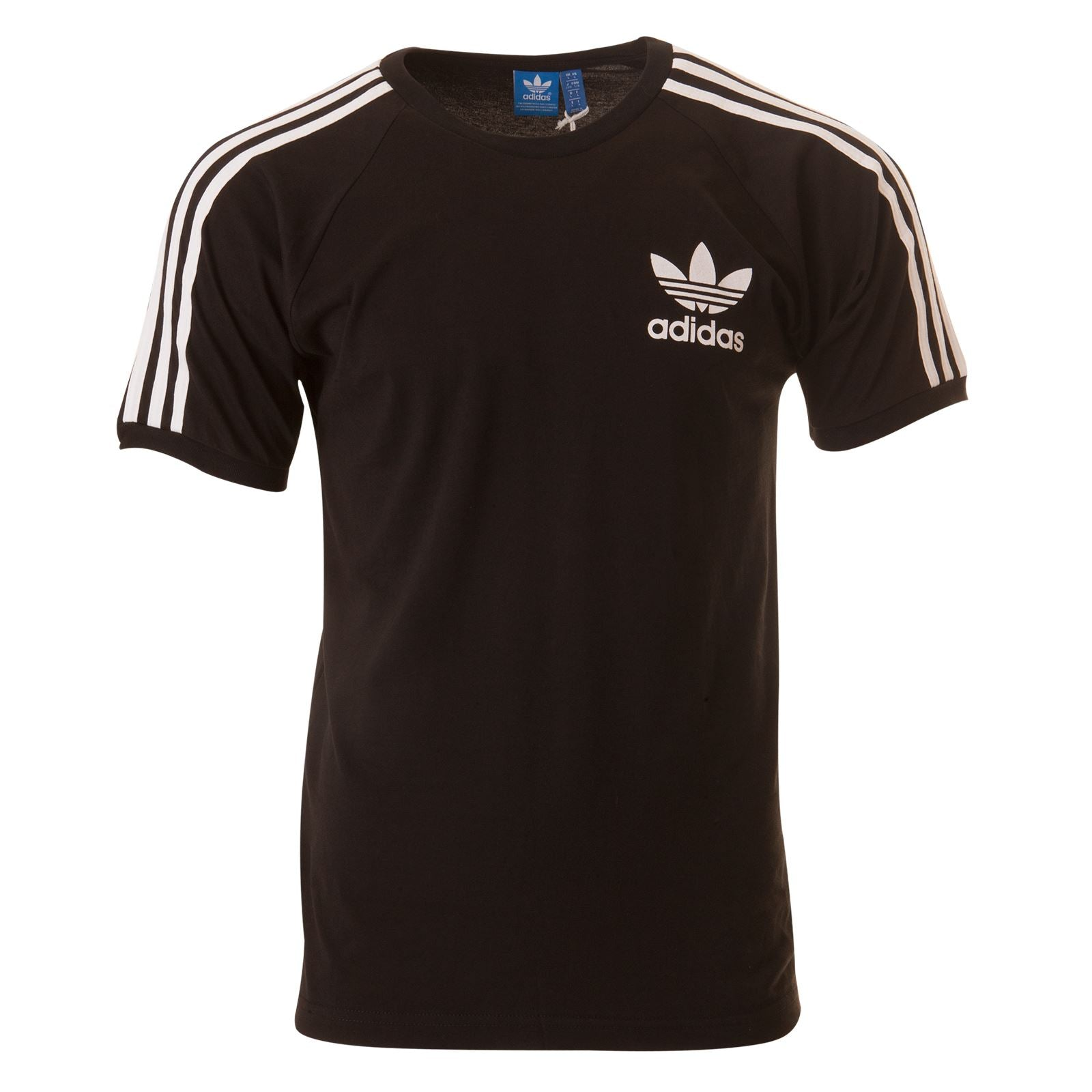 ADIDAS ORIGINALS SPORT ESSENTIALS CALIFORNIA TEE Mens BLACK/NAVY/BLUE/WHITE S-XL BLACK PRINT