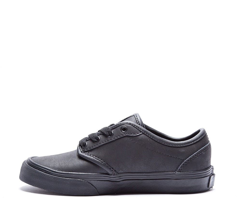 Vans Atwood (Leather) VUDTL3B Youth Blk/Blk UK 10K-12K
