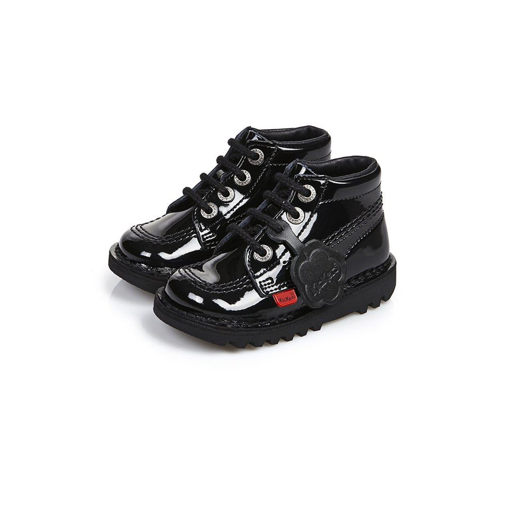 Kickers Kick Hi Infants Patent 1KF0000408BXW UK 11 EU 29