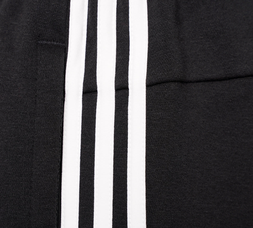 Adidas Originals 3-Stripes Fleece Tapered Cuffed DQ3095 Pants Black