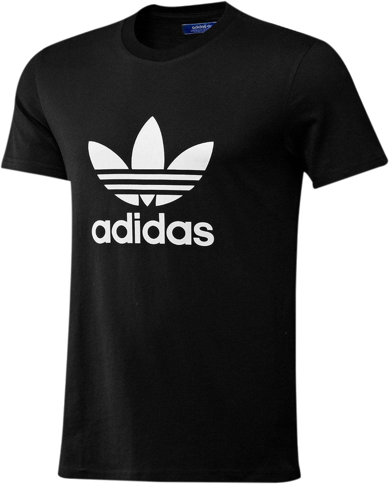 Adidas Originals Trefoil Tee Crew Neck Cotton Casual T-Shirt All Size S M L XL BLACK