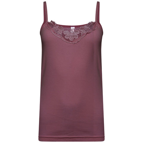 Women LACE VEST PURPLE