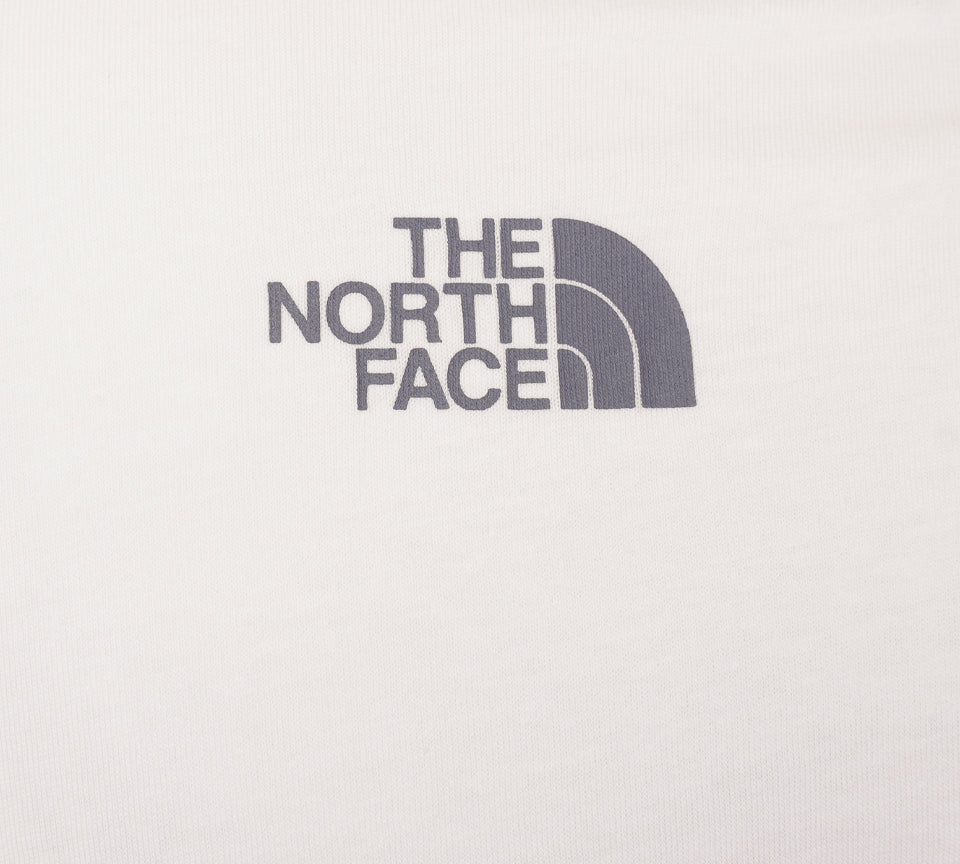 The North Face Mens T93JYLKZ7 Short Sleeve Crew Neck White Cotton Tee