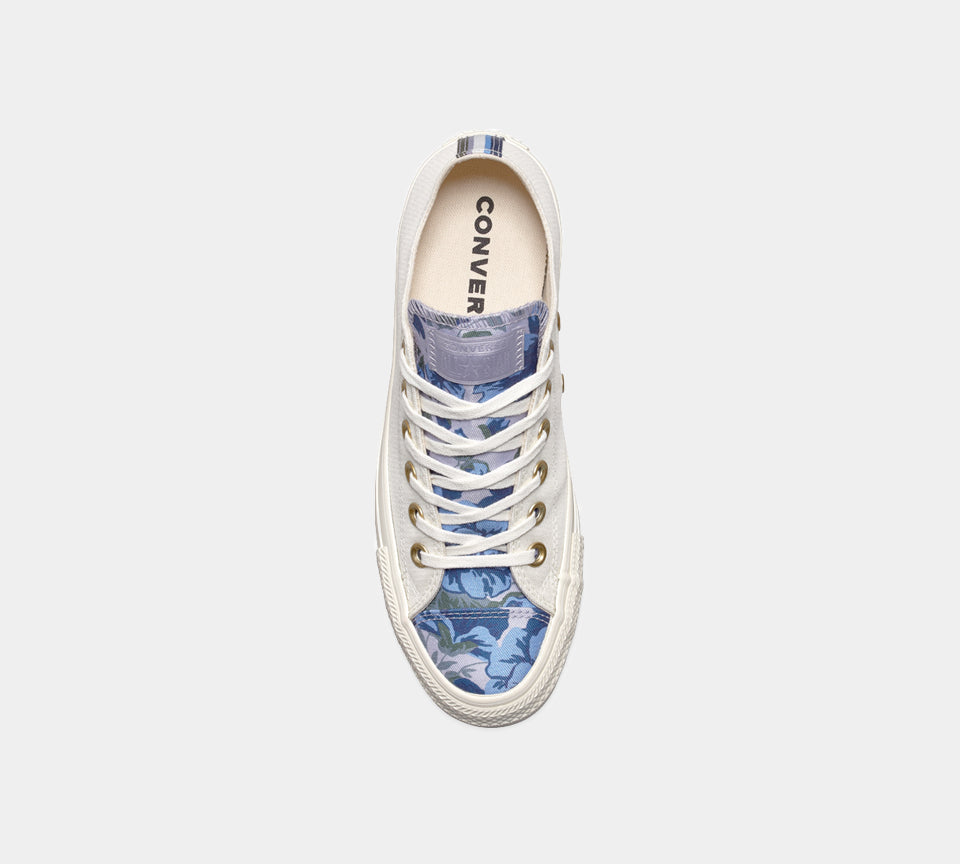 Converse CTAS Floral Tongue Sneakers 561665C White