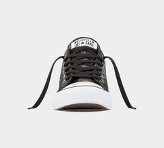 CONVERSE CTAS OX 557981C SNAKE SKIN BLK/BLK/WHT LEATHER TRAINERS