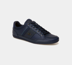 LACOSTE CHAYMON 118 1 CAM NVY/GREEN LEATHER TRAINERS