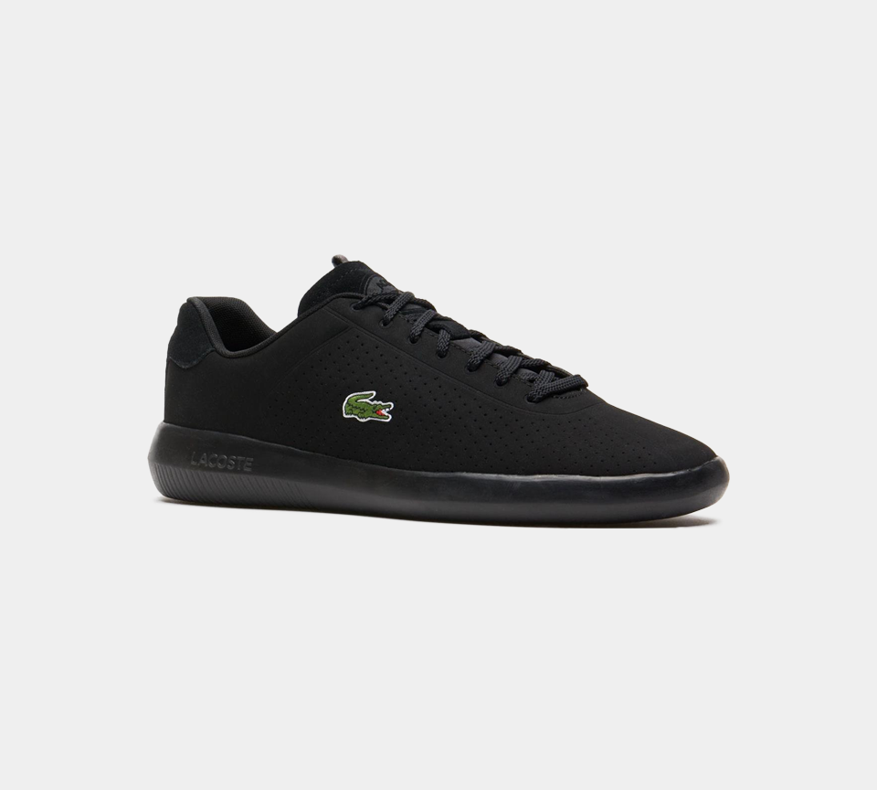 Lacoste Avance Synthetic Trainers Black UK