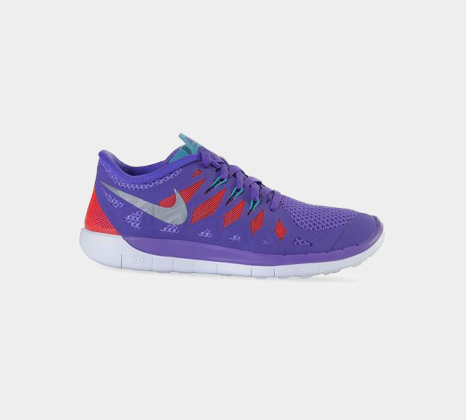 NIKE FREE 5.0 (GS) PURPLE/BLOOD ORANGE 644446 500