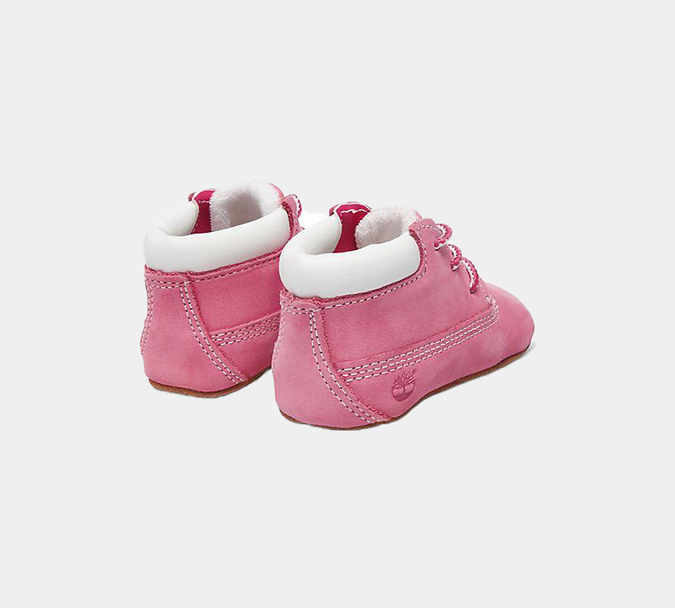 Timberland Crib Booties & Hat For In Pink