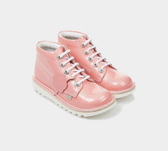 Kickers Kick HI Patent 114046 Pink Infant