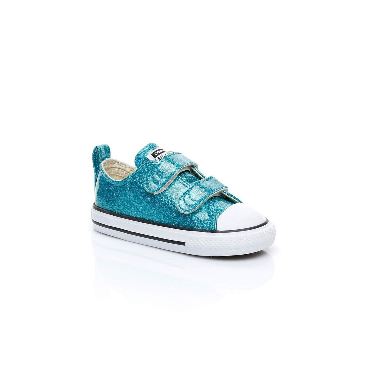 Converse Chuck Taylor All Star Glitter Hi Light Blue Synthetic Baby Trainers