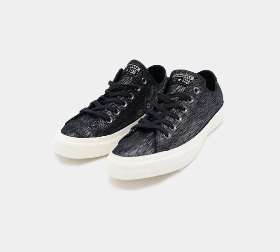Converse Chuck Taylor All Star Ox Womens Trainers Metallic Black UK 3-8