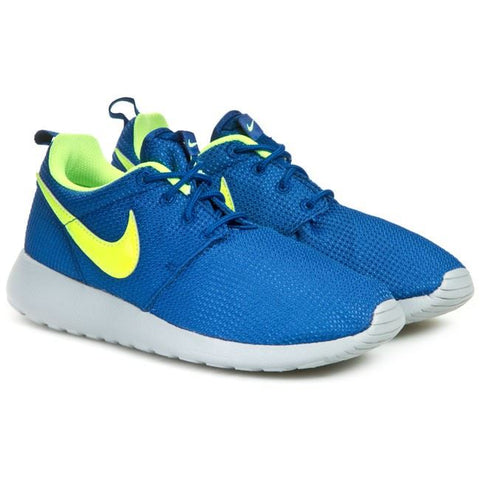 NIKE ROSHERUN (GS) BLUE/GREY/NEON GREEN 599728 407