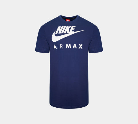 Nike Air Max Logo Short Sleeve T-Shirt Navy