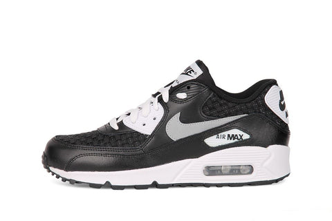 NIKE AIR MAX 90 PREM MESH (GS) 724882 101 BLACK-WHITE
