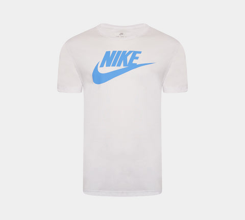 Men's Nike Logo Sports T-Shirt Futura Top White S-2XL
