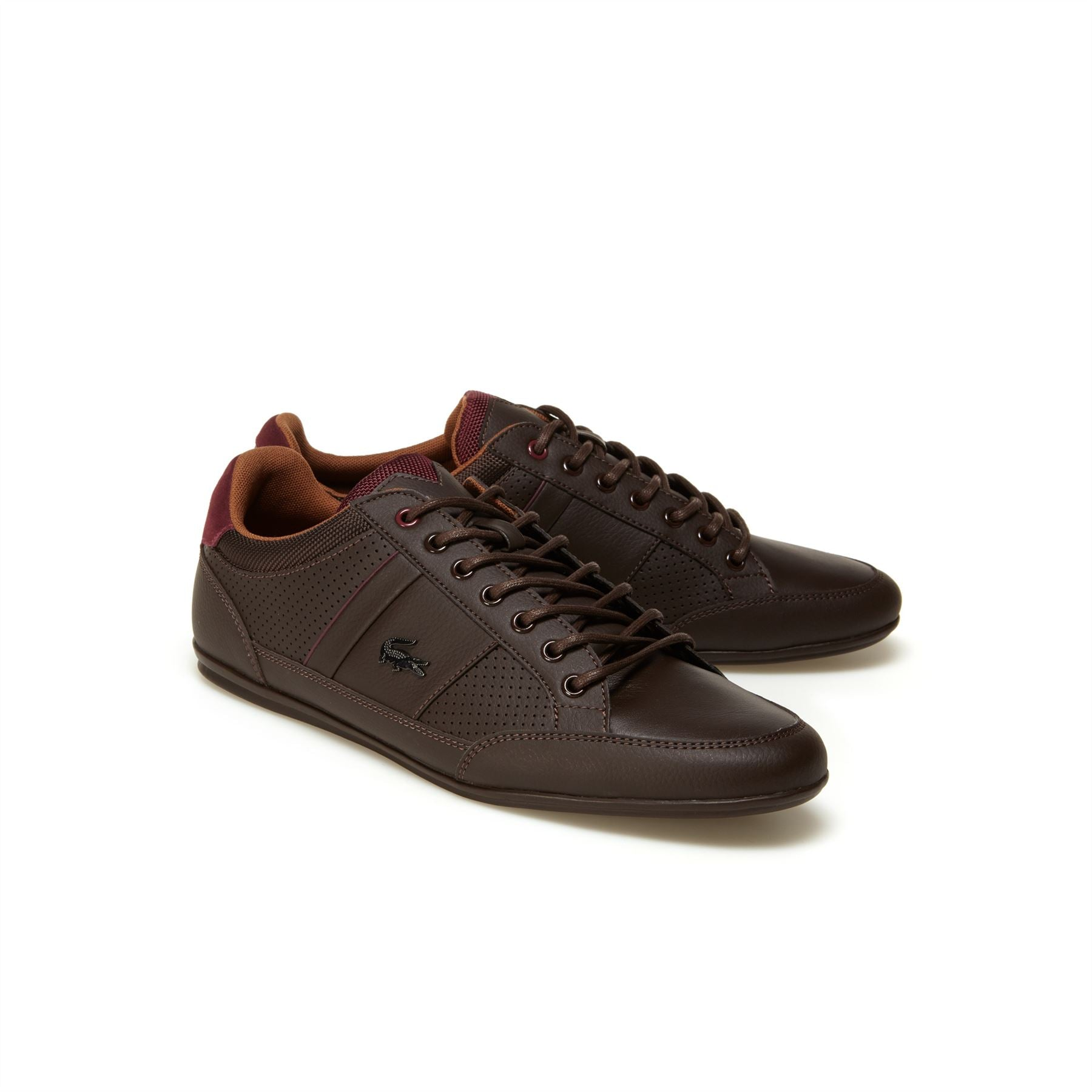 LACOSTE CHAYMON LEATHER BROWN/TAN TRAINERS